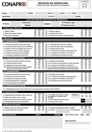 Microsoft Word - F-C-REV-04Checklist Revisión descensor emergencia MRG-9_RG-10 rev08